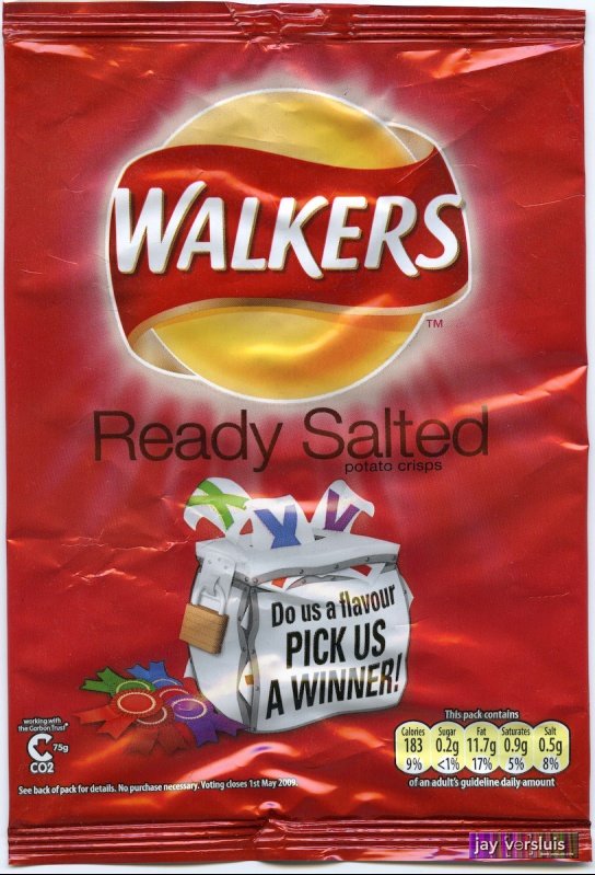 "Walker's Ready Salted ""Do us a Flavour"" Edition (2009)"