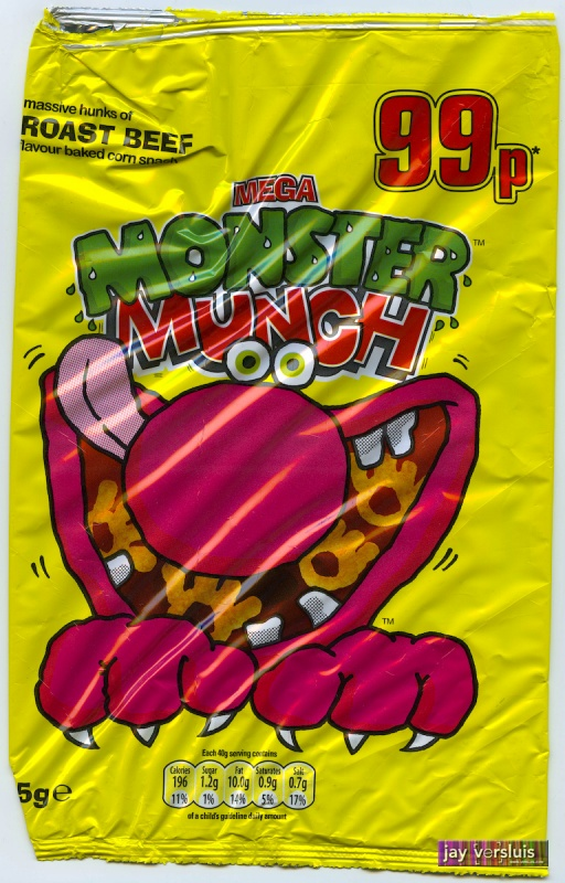 Monster Munch: Roast Beef Flavour - Massive Bag (2009)