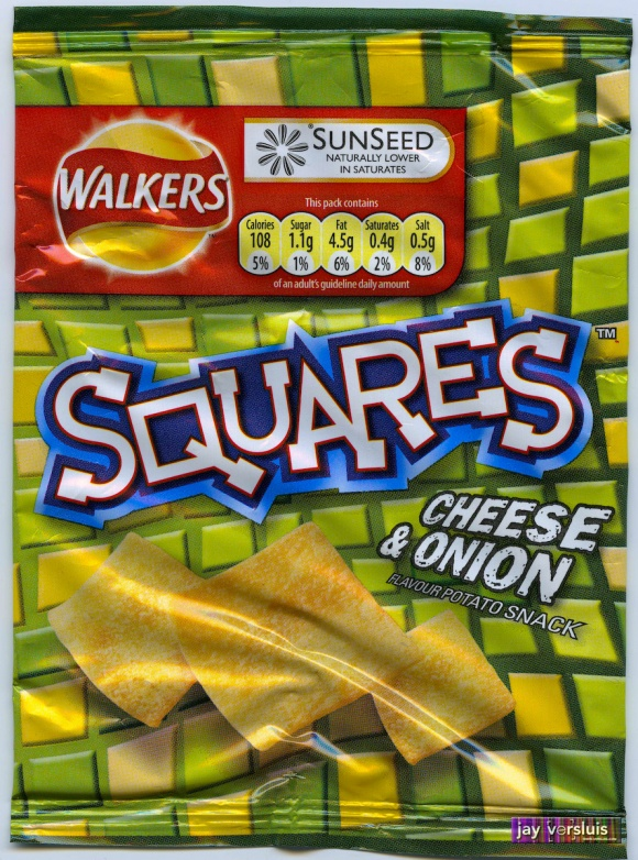 Walker's Squares - Cheese and Onion Flavour (2009)