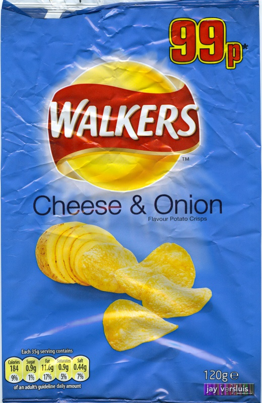 Walker's Cheese and Onion, 120g bag (2009)