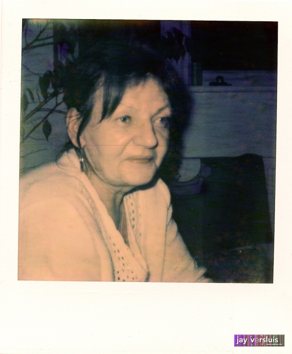 My Mum on Polaroid