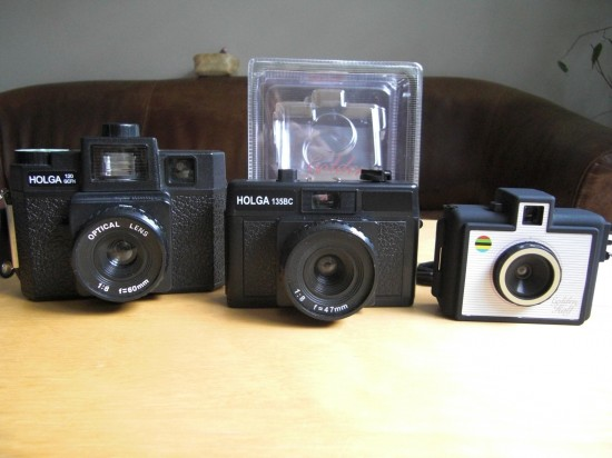 Size Comparison: Holga 120, Holga 135 and Golden Half