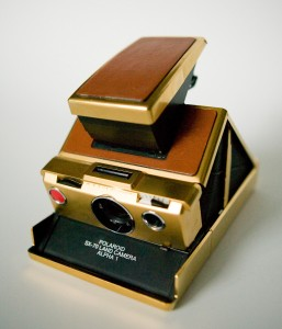 Polaroid SX-70 in 24k Gold