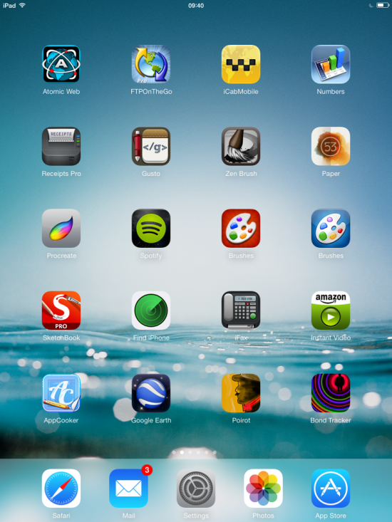 iOS 7 on my iPad 2