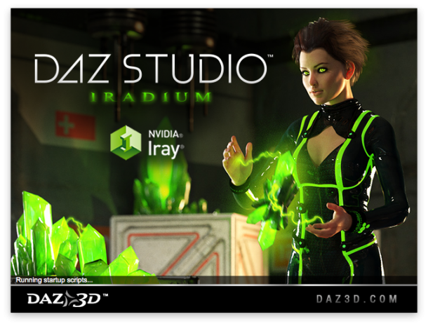 DAZ Studio Splash