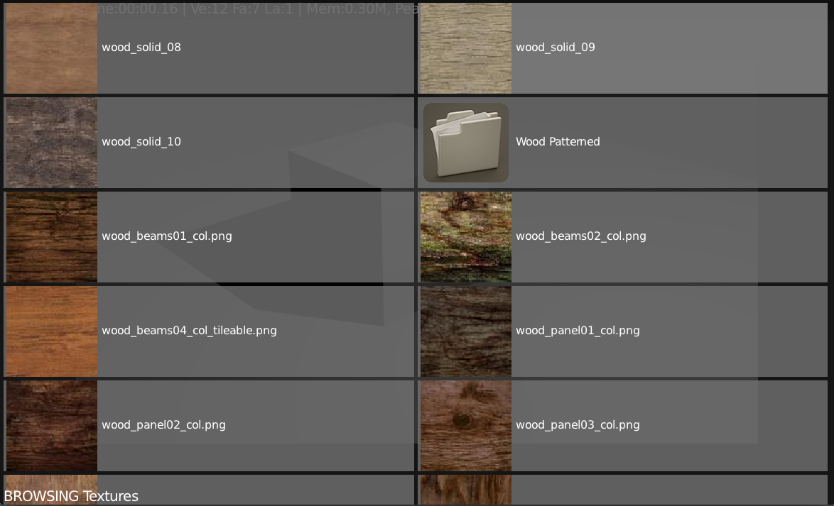 Browse textures right inside Blender
